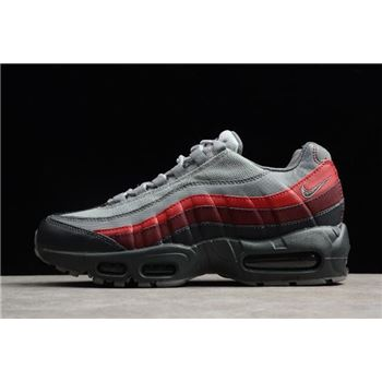 Nike Air Max 95 Essential Anthracite/Cool Grey-Red Running Shoes 749766-025