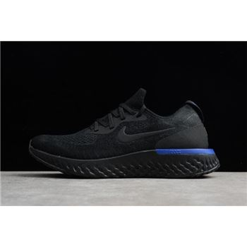 ec714b98b00 Nike Epic React Flyknit Black Racer Blue Men s and Women s sizing AQ0067-004
