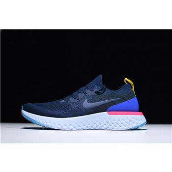 Nike Epic React Flyknit College Navy/Racer Blue Running Shoe AQ0067-400