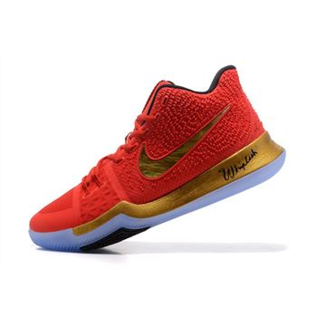 3bbeb5c3ec7 Kyrie Irving Nike Kyrie 3 Red/Metallic Gold-Black Basketball Shoes Hot Sale