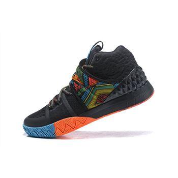 Men s Nike Kyrie S1 Hybrid BHM Black Multi-Color Free Shipping 66c5278aa7