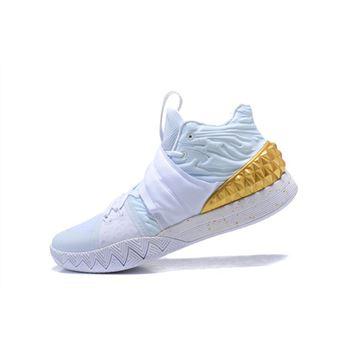 reputable site 34ecc 35142 Nike Kyrie S1 Hybrid White Metallic Gold Men s Size Free Shipping
