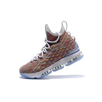 09e296fd5d0b Men s Nike LeBron 15 Fruity Pebbles White Multi-Color 897648-900