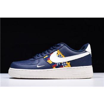 cf58251fa5694 Nike Air Force 1 Low Nautical Redux Navy White-Yellow AR5394-400 Free