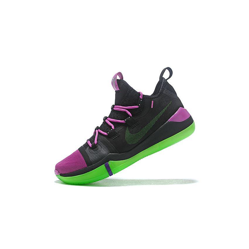 Newest Nike Kobe AD Black/Purple-Green, Womens Nike Shoes