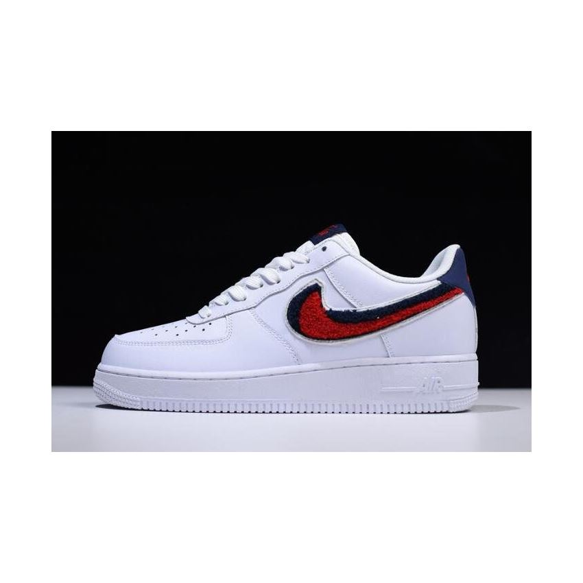 357e0afa Nike Air Force 1 Low '07 LV8 Chenille Swoosh White/University Red ...